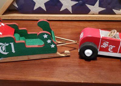 Santa's Roadster & Sleigh by Jeff Stout