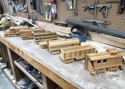 Wooden Train by Scott Grosskopt