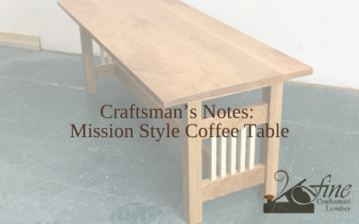 Mission Style Coffee Table – The Craftsman's Notes